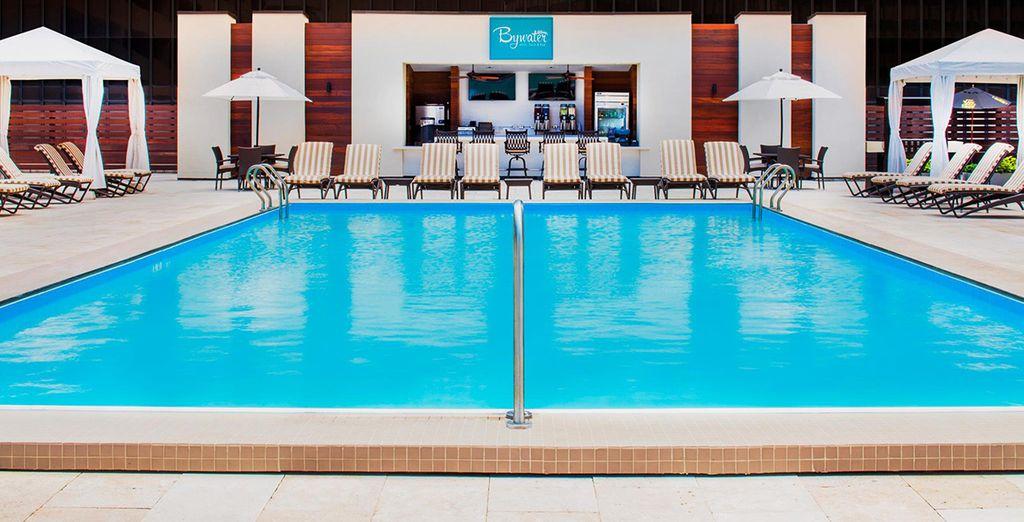 Et plus particulièrement sa ravissante piscine