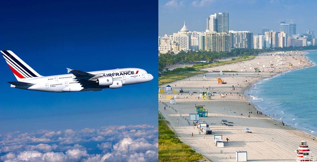 Offrez-vous quelques jours d'exception - Autotour Floride en cabriolet 9 ou 11 nuits - Vol Business en A380 avec Air France Miami