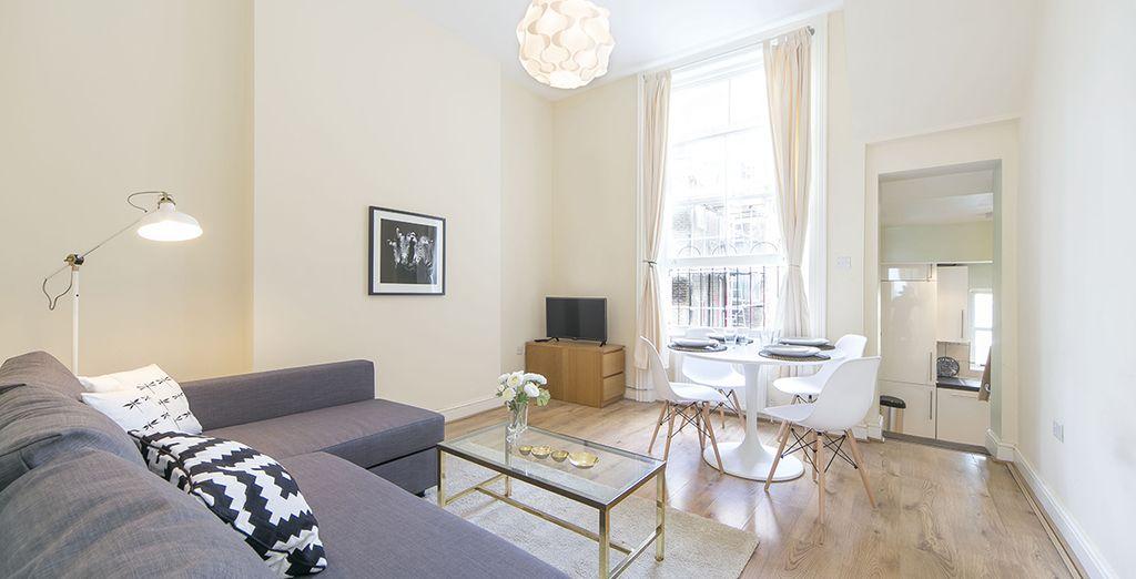 Appartement 1 : Le salon / salle-à-manger