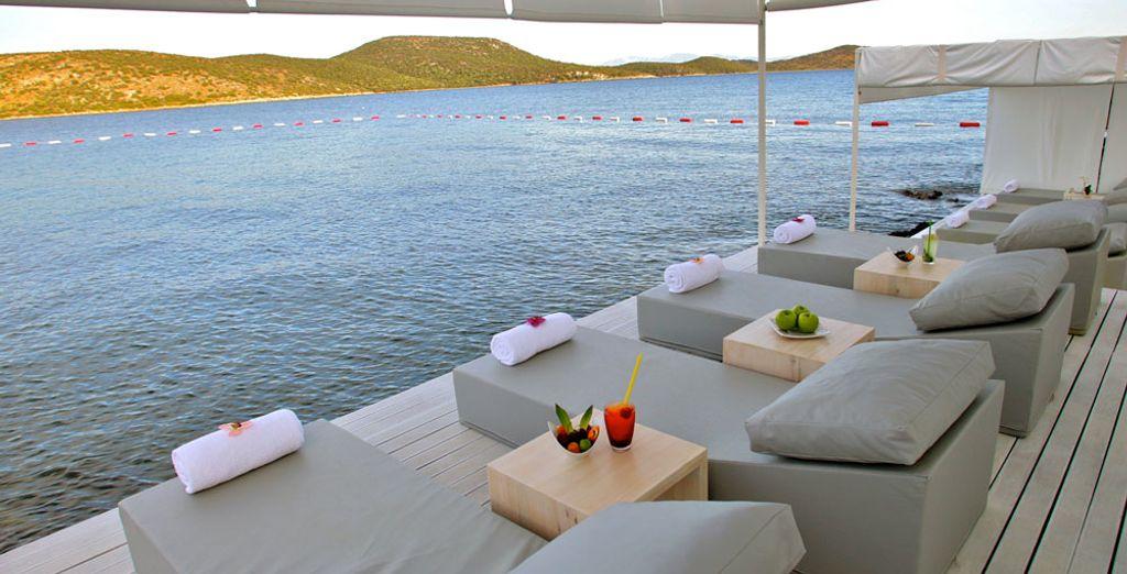 Un pied-à-terre idéal pour se retrouver, sur les bords de la mer Égée