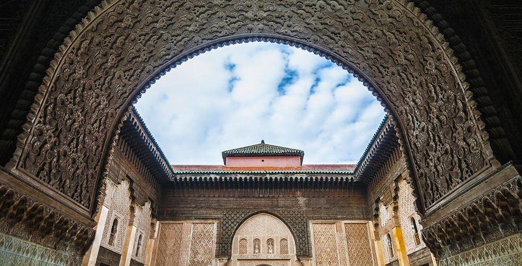 Vous pourrez visiter les monuments marrakchis...