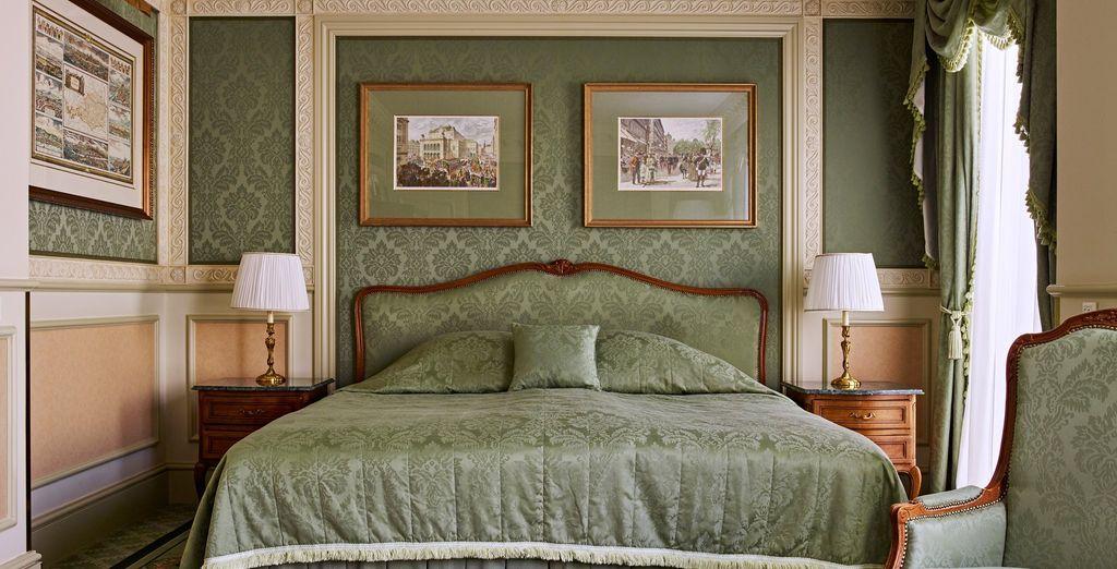 Vous pourrez également choisir une chambre Exclusive, à l'élégance inégalée