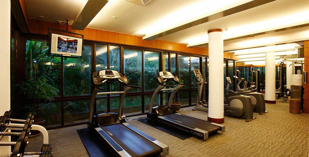 Dépensez-vous au centre de fitness...