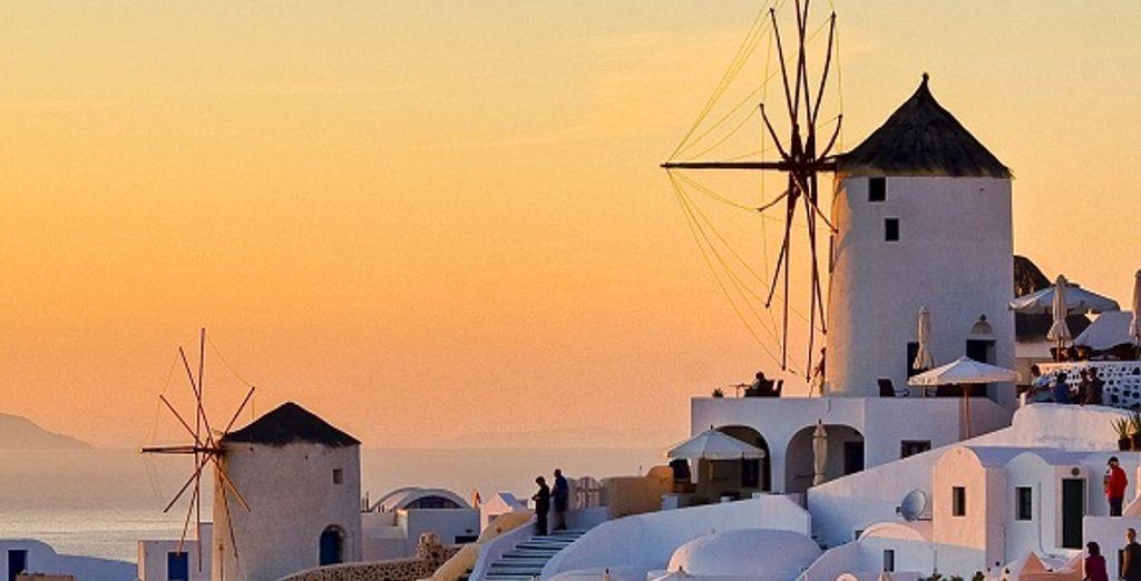Un coucher de soleil sur Santorin