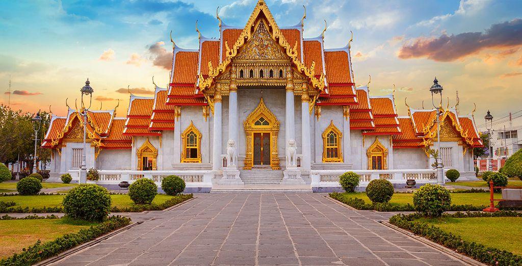 Photographie de temples en Thaïlande