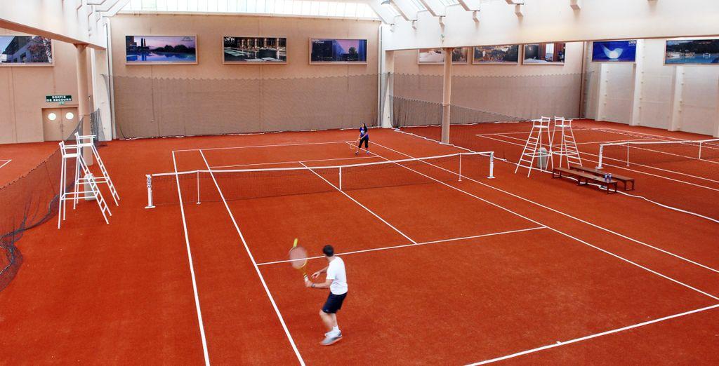 Les 4 courts de tennis