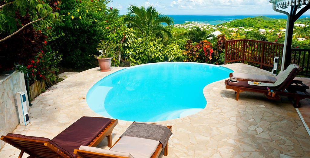 D'une piscine privée