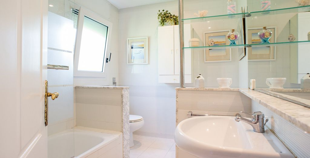 La deuxième salle de bains
