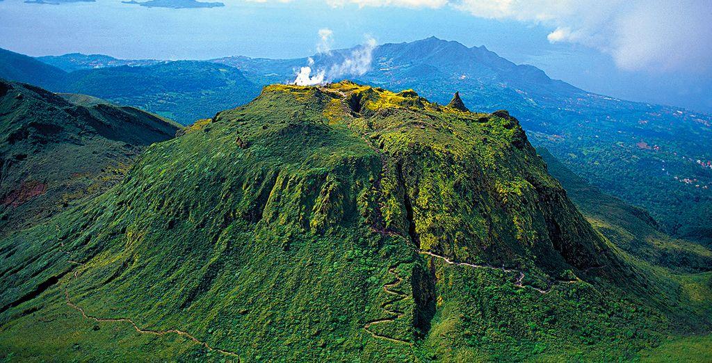 Photographie du volcan de la Soufrière en Martinique