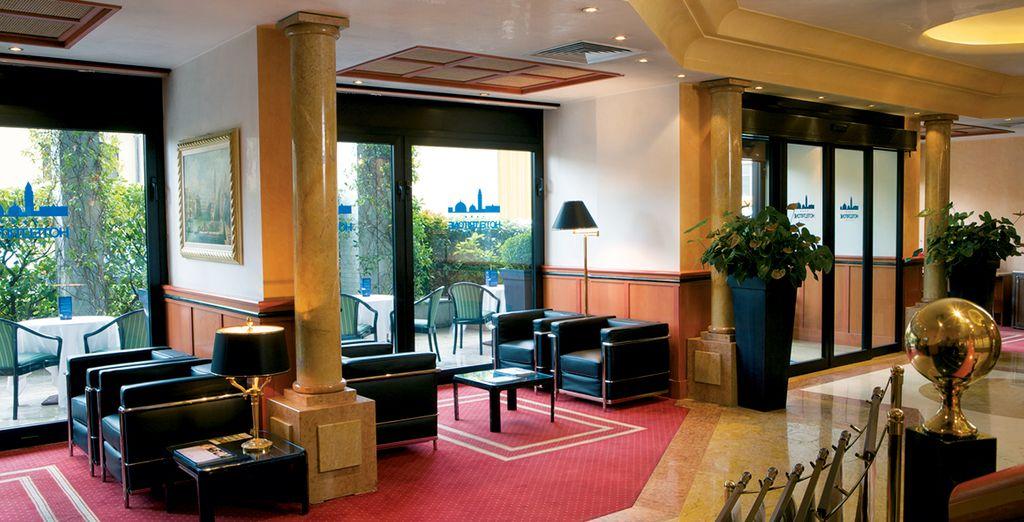 Posez vos valises dans l'ambiance feutrée de l'hôtel Tritone - Hôtel Tritone (Venice Mestre) 4* Venise