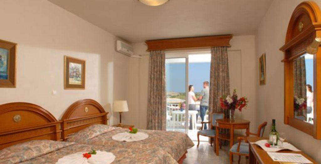 La chambre Standard - Hôtel Aquis Sandy Beach **** - Agios Georgios - Corfou Corfou