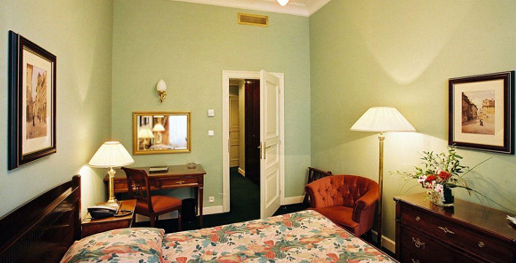 Une des chambres Standard - Hôtel Liberty **** Prague