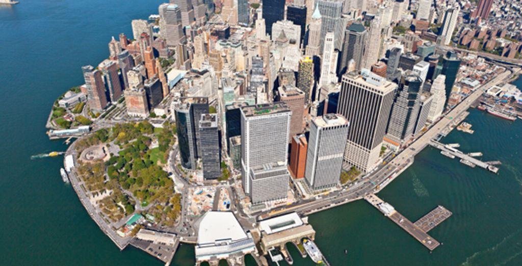Vue aérienne de Manhattan
