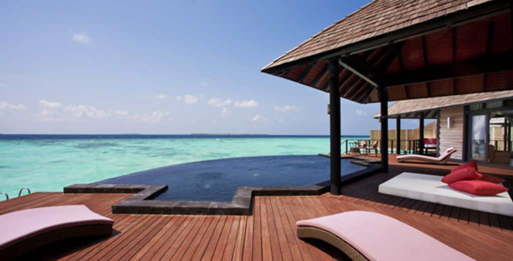 La terrasse - Hilton Maldives Iru Fushi Resort & Spa ***** - Male - Maldives Malé