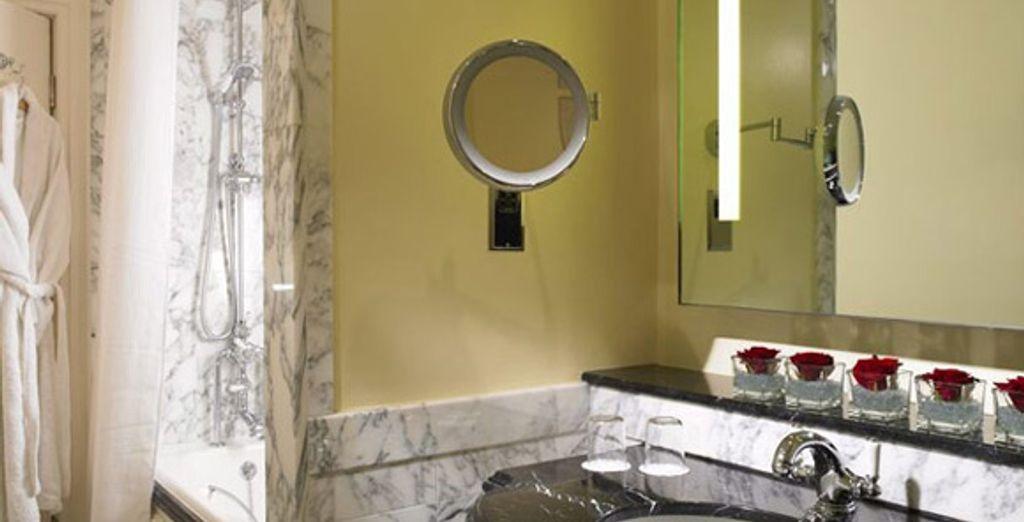 La salle de bains en marbre