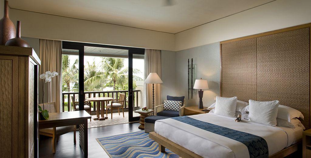 Posez vos valises en chambre Deluxe Resort