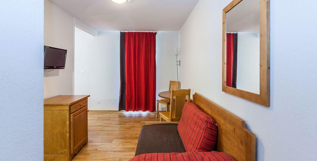 Vous séjournerez dans un appartement confortable, chaleureux...