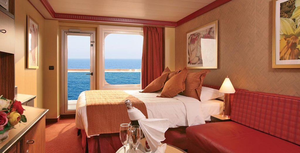 Ou choisissez la vue avec la cabine Extérieure avec balcon