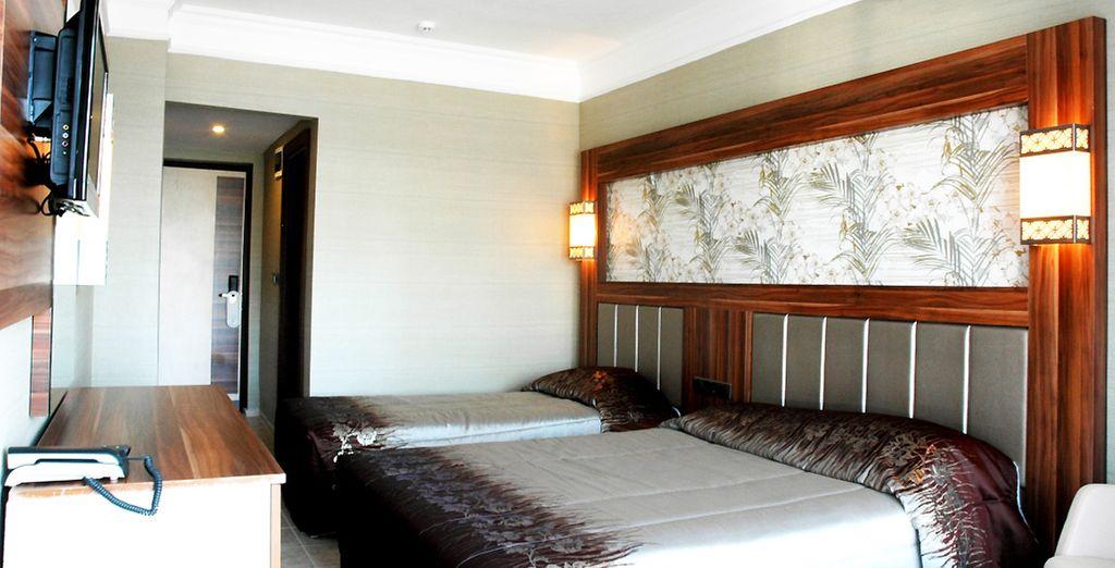 Vous séjournerez en chambre standard... - Hôtel Ideal Prime Beach 5* et /ou Croisière Marmaris-Fethiye 7 nuits Marmaris