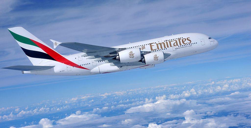 Choisissez de décoller en toute sérénité avec la compagnie Emirates...