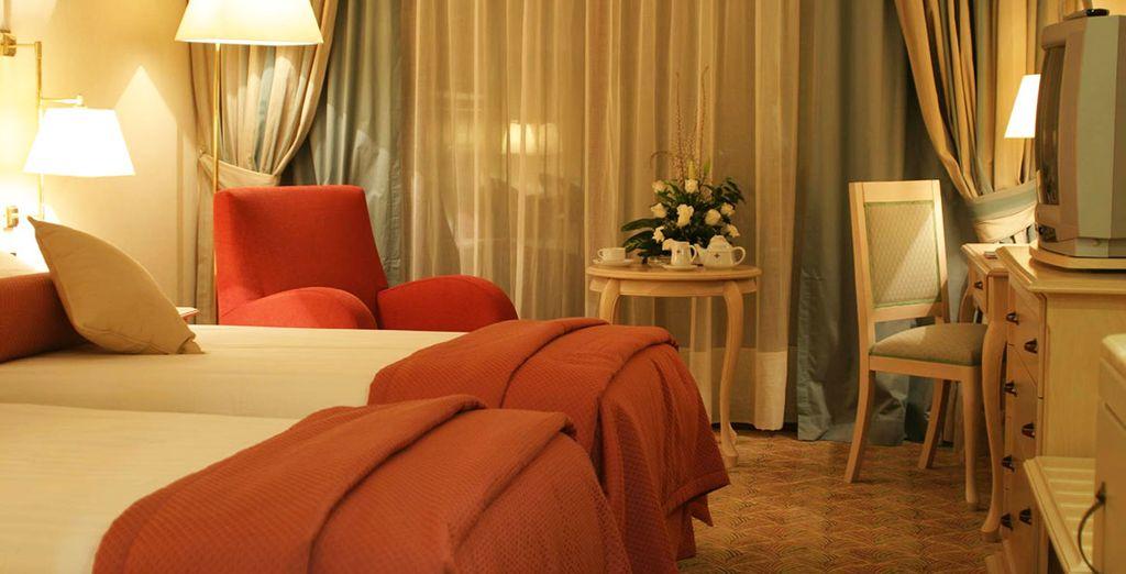 Confortablement installé dans votre chambre cosy et élégante