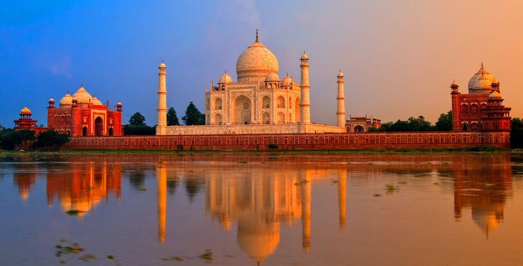 Et le fameux Taj Mahal, symbole d'un amour éternel !