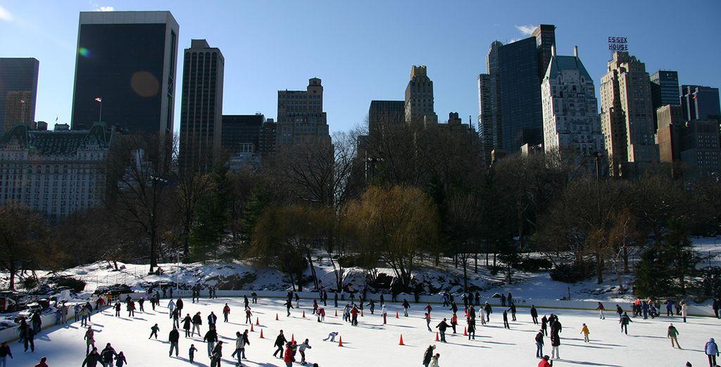 La fameuse patinoire de Central Park