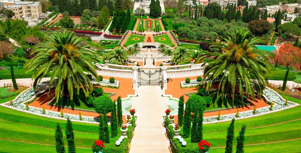 ... les jardins Bahaï de Haïfa