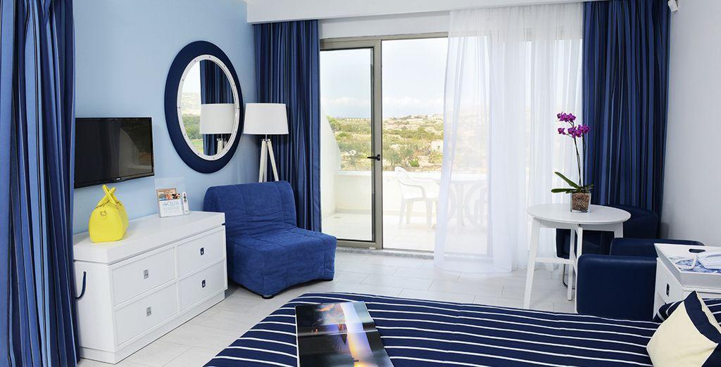 Et installez-vous confortablement dans votre chambre !