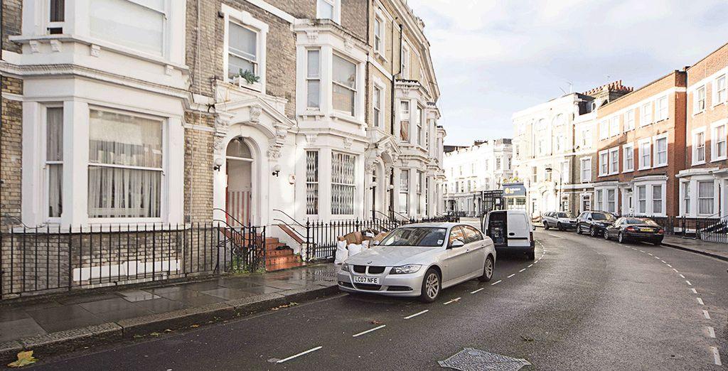 Dans le quartier chic de West Kensington