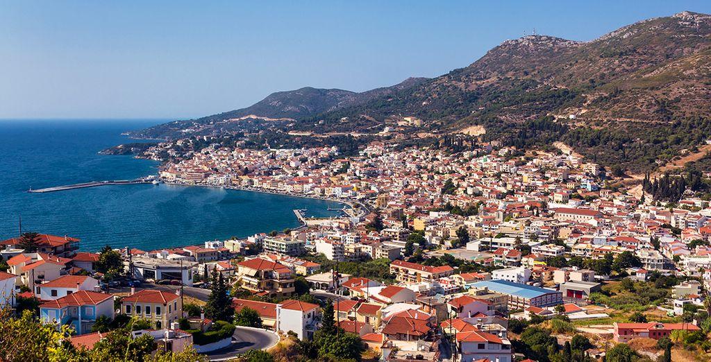 Puisprenez la direction de Vathy, la capitale de l'île et sa baie splendide