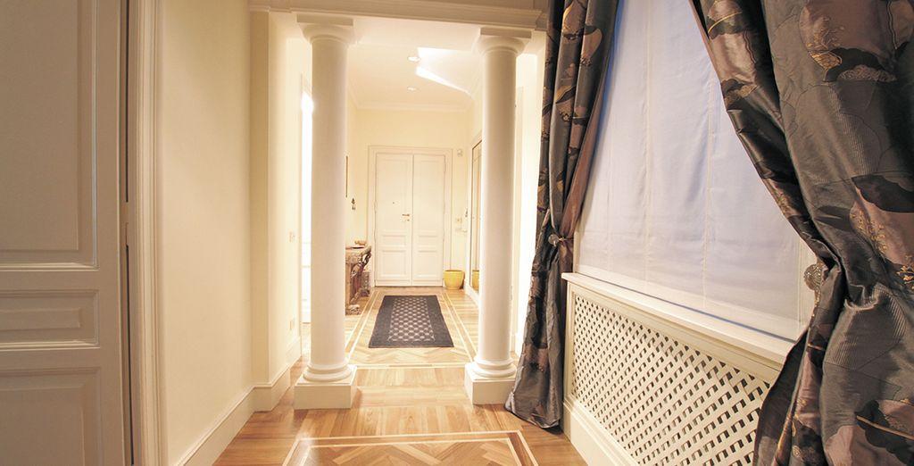 De beaux et longs couloirs