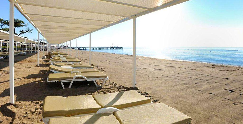Profitez des rayons du soleil sur la plage...
