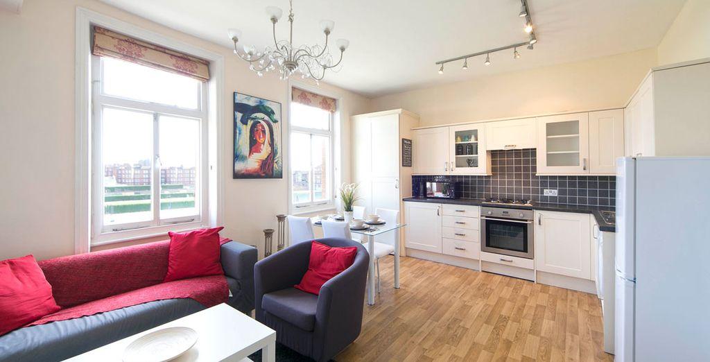 Appartement 4 : L'espace salle-à-manger intégré