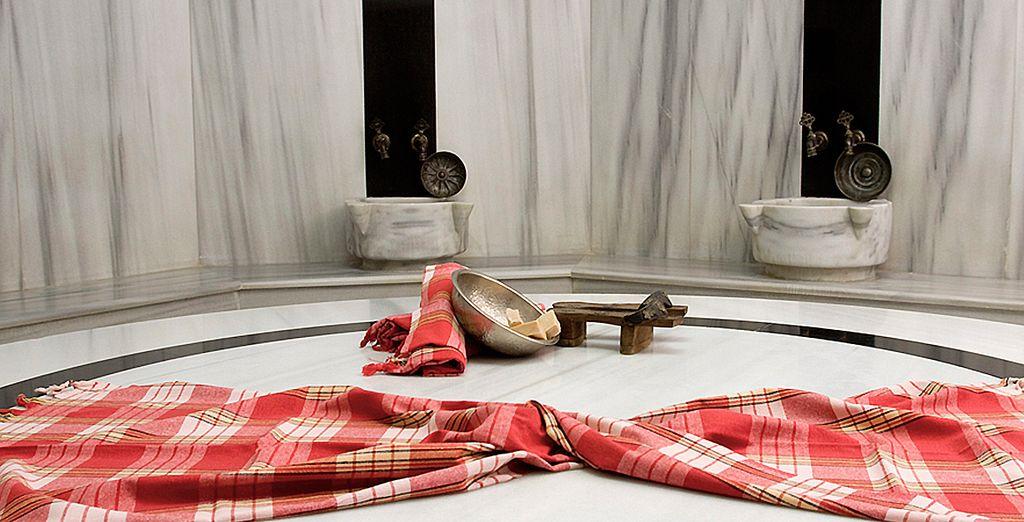 Offrez-vous une séance de détente au bain turc...