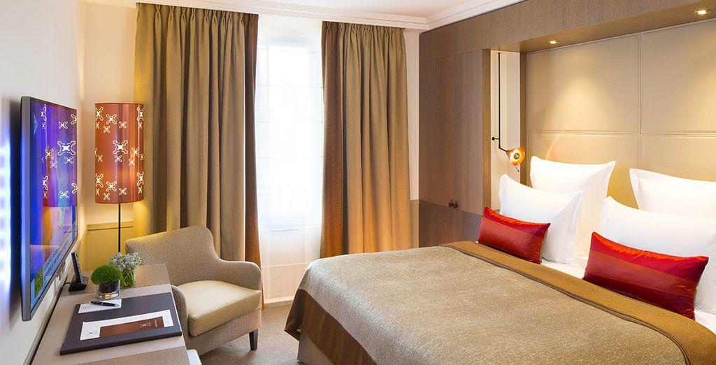 Installez-vous dans votre chambre Villa Supérieure...