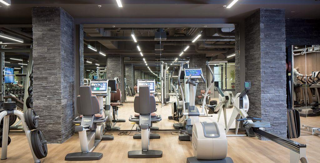 Et gardez la forme grâce à la salle de fitness