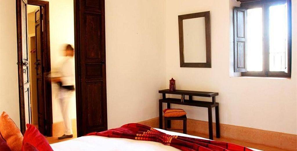 Nous vous y avons réservé une chambre à la décoration typique