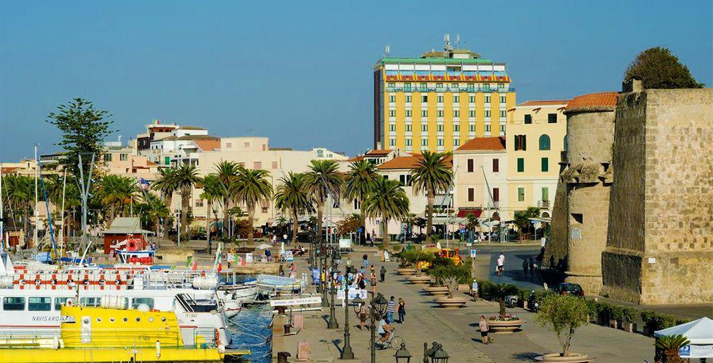 Direction le littoral sarde et la ville d'Alghero...