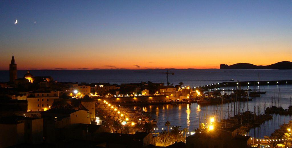 Pour apprécier une vue panoramique sur la baie et le port d'Alghero...