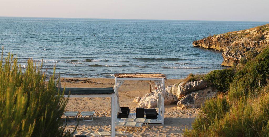Foulez le sable de sa plage privée...