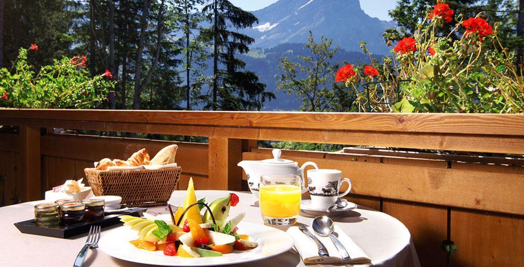 Prenez votre petit-déjeuner en terrasse