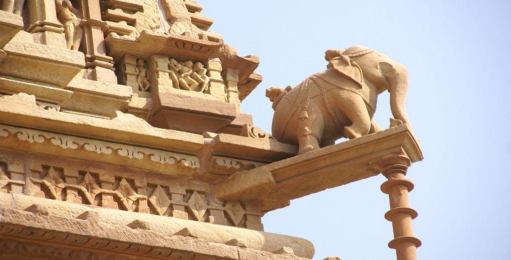A Khajurao aux fameuses sculptures