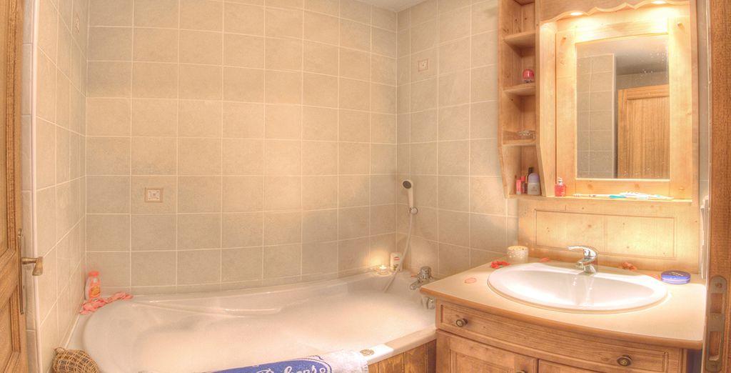 Ainsi que des salles de bains tout confort !