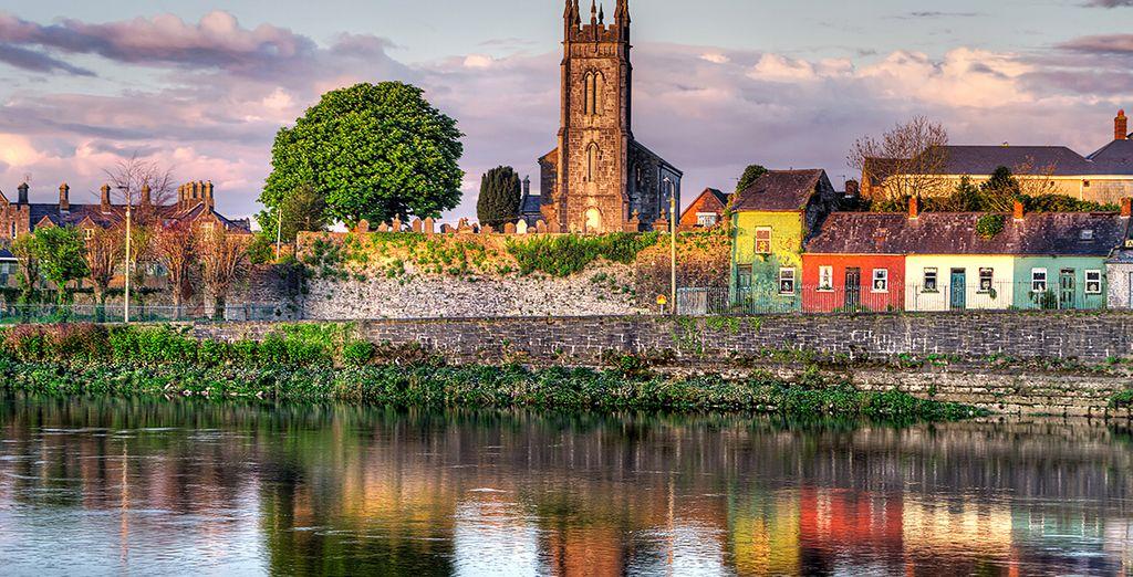 Et les façades colorées des maisons de Limerick