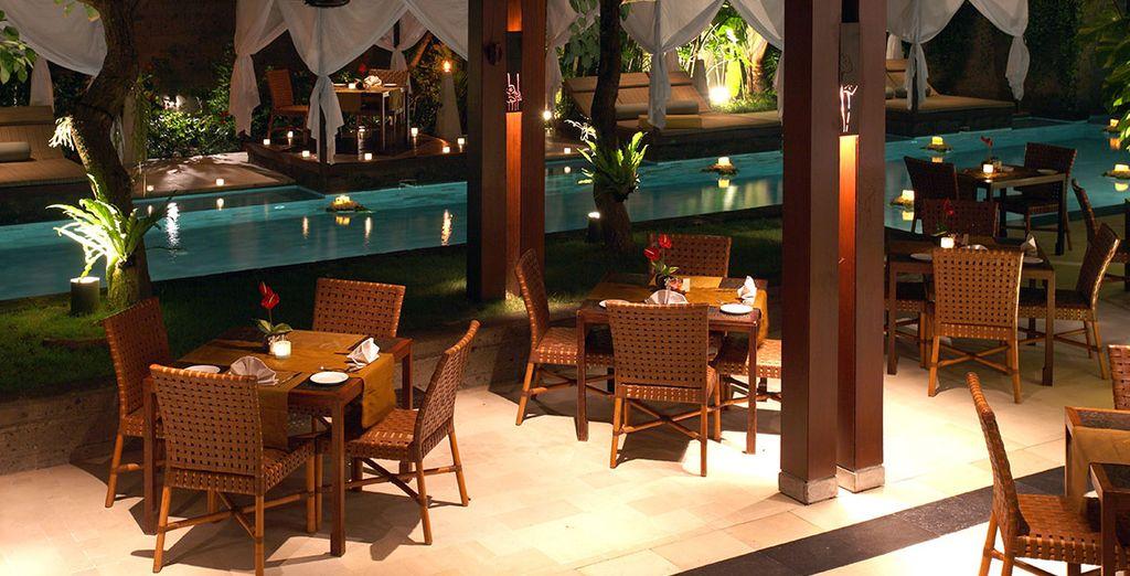 Rejoignez le cadre romantique du restaurant...