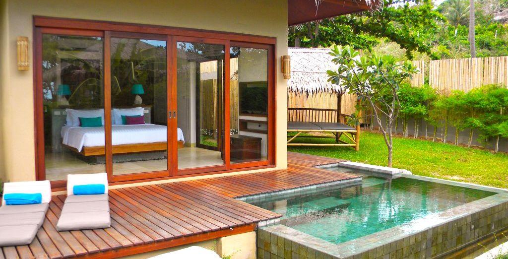 Une ravissante villa avec piscine privée