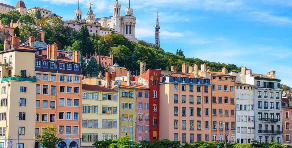 Photographie du centre ville de Lyon, classé au patrimoine mondial de l'UNESCO