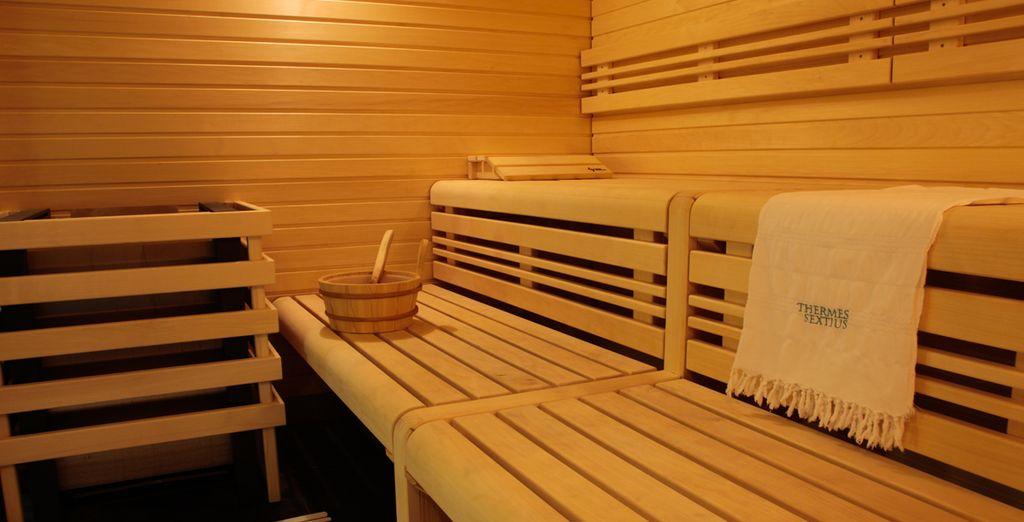 Entre hammam et sauna, vous aurez le choix