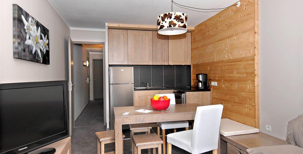 Vous logerez dans des appartements modernes ou des chambres d'hôtel selon votre choix